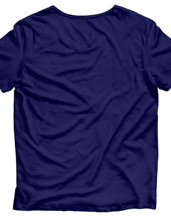Blue t-shirt back
