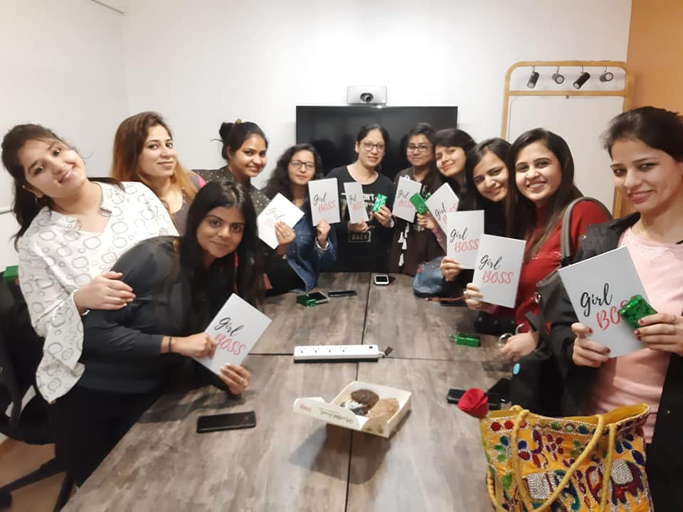 Women Entrepreneurs with Girl Boss Notebook