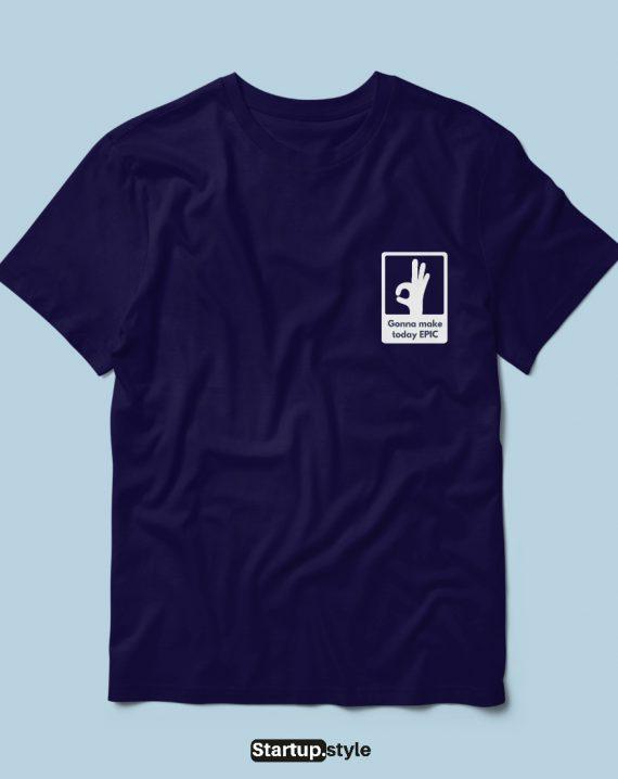 Pocket side print t-shirt